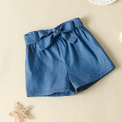 Toddler Girl Bowknot Solid Pants