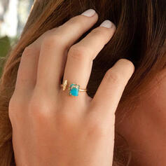 Einfache Boho Legierung Frauen Ringe