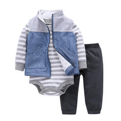 3-pieces Baby Striped Cotton Set