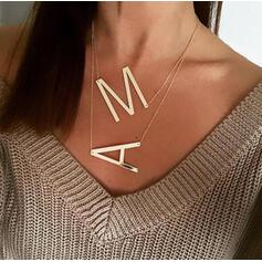Letter Simple Initial Alloy Women's Necklaces