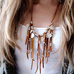 Vintage Elegant Romantic Alloy Leather With Tassels Women's Ladies' Unisex Necklaces