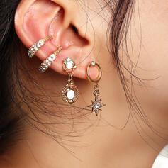 Boho Anhänger Legierung mit Strasssteine Ohrringe 4 STÜCK