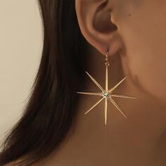 Glänzende heißeste Stern Legierung mit Strass Ohrringe (Set von 2)