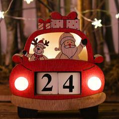 Weihnachten Fröhliche Weihnachten Santa Auto Hölzern Diy Craft Adventskalender Weihnachten