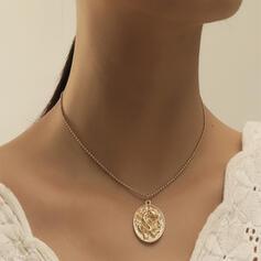 Jahrgang Einfache Drache Legierung mit Münze Halsketten