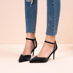 Frauen Stoff Stöckel Absatz Absatzschuhe Spitze mit Pailletten Schnalle Schuhe