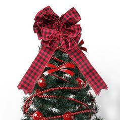 Weihnachten Fröhliche Weihnachten Leinen Weihnachtsbaum Topper