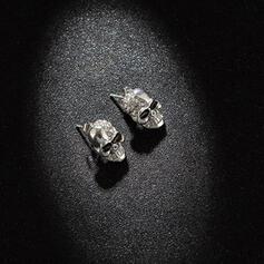 Skull Halloween Alloy Rhinestones With Rhinestones Earrings 2 PCS