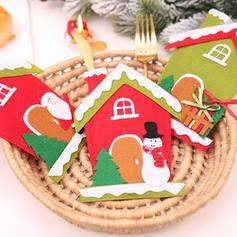 Weihnachten Fröhliche Weihnachten Schneemann Rentier Santa Haus Vlies Geschirrbezug