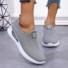 Women's Cloth Mesh Flat Heel Flats Round Toe Sneakers Loafers & Slip-Ons With Solid Color shoes