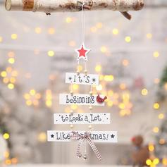 Weihnachten Fröhliche Weihnachten Hängend Hölzern