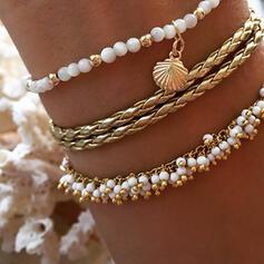 Anhänger heißeste Legierung Faux-Perlen mit Nachahmungen von Perlen Schmuck Sets Armbänder (3-er Set)