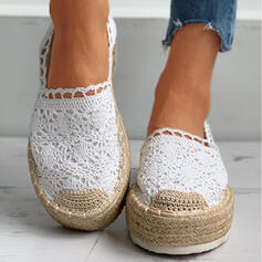 Women's Microfiber Flat Heel Flats Low Top With Hollow-out shoes