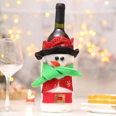 Weihnachten Fröhliche Weihnachten Schneemann Santa Vlies Weinflasche Cover