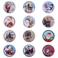 Weihnachten Fröhliche Weihnachten Schneemann Rentier Santa Metall Bonbongläser