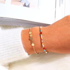 Einfache Boho Geschichtet Legierung Perlen Armbänder 2 STÜCK