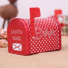 Christmas Merry Christmas Gift Bag Metal Candy Jars