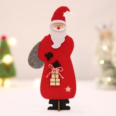 Weihnachten Fröhliche Weihnachten Santa Tischplatte Hölzern Wollen Weihnachtsschmuck