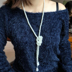 Elegant Geschichtet Legierung Faux-Perlen mit Nachahmungen von Perlen Halsketten
