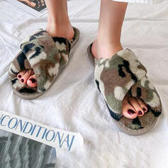 Women's Fake fur Flat Heel With Faux-Fur shoes