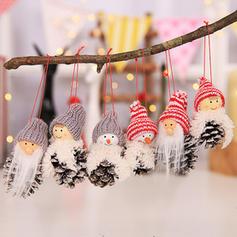 Weihnachten Tabelle Gnom Fröhliche Weihnachten Schneemann Hängend Leinen Baum hängen Ornamente Weihnachtsschmuck (3-er Set)