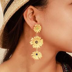 Hübsche Blumen Legierung Ohrringe 2 STÜCK