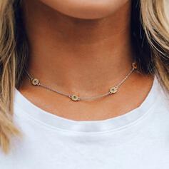 Einfache Sonnenblume Legierung Halsketten