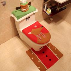 Weihnachten Fröhliche Weihnachten Leinen WC-Sitzbezug