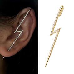 Shining Simple Alloy Rhinestones With Lightning Women's Earrings