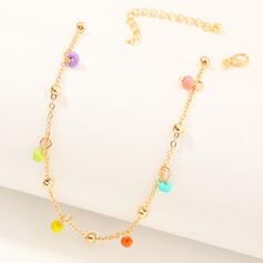 Modisch Einfache Legierung Halsketten