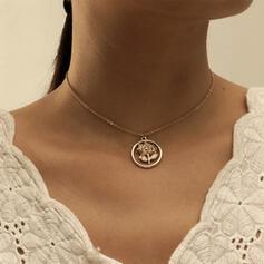 Einfache Elegant Legierung mit Rose Halsketten