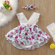 2-pieces Baby Girl Bowknot Print Cotton Set