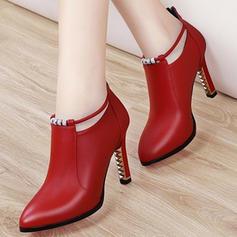 Women's PU Stiletto Heel Pumps Heels With Buckle shoes