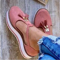Women's Leatherette Flat Heel Flats With Tassel shoes