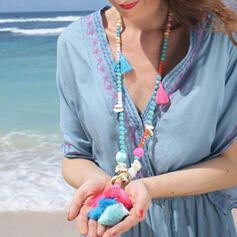 heißeste Fantasie Legierung Perlen mit Quasten Halsketten Strandschmuck