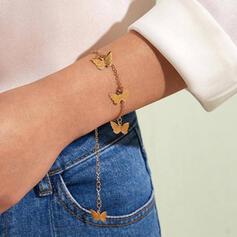 Einfache Anhänger Zarte Legierung mit Schmetterling Armbänder