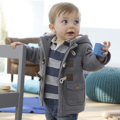 Baby Zip-Up Solid Cotton Outerwear