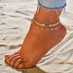 Einzigartig Legierung Strandschmuck Fußkettchen (3-er Set)
