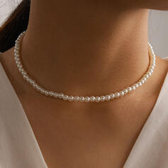 Shining Alloy With Imitation Pearls Women's Ladies' Necklaces