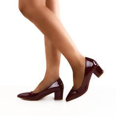 Frauen PU Stämmiger Absatz Absatzschuhe Spitze mit Pelz Schuhe