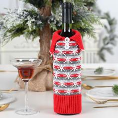 Weihnachten Fröhliche Weihnachten Leinen Weinflasche Cover