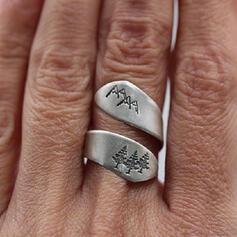 Klassische Art Einfache Legierung Ringe