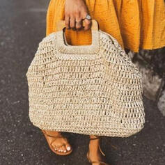 Personalized Style/Solid Color/Braided Tote Bags/Beach Bags