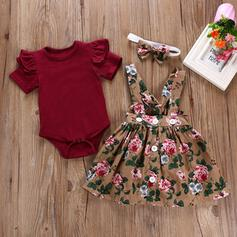 2-pieces Baby Girl Floral Cotton Set