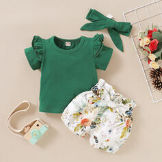 3-pieces Baby Girl Solid Set
