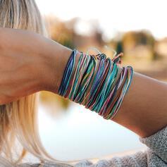 Bunte Boho Legierung Flechtschnur Armbänder