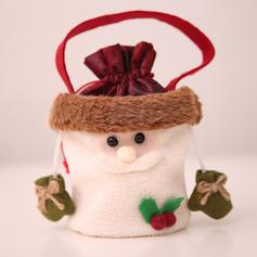 Weihnachten Fröhliche Weihnachten Schneemann Rentier Santa Hängend Geschenktasche Vlies Apple Taschen Candy Bags