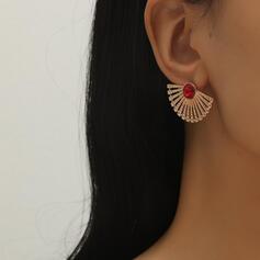 Glänzende Schöne Legierung Ohrringe (Set von 2)