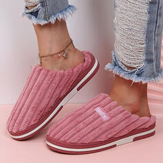 Women's Suede Flat Heel Sandals Slippers With Letter shoes