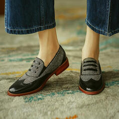 Women's PU Others Flats Slip On With Rhinestone Splice Color shoes